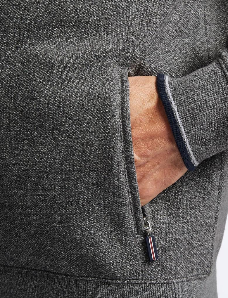 Gri Saf Pamuklu Ceket