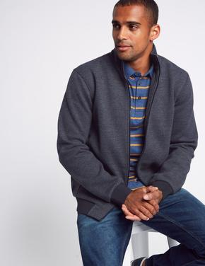 Pamuklu Fermuarlı Ceket Sweatshirt
