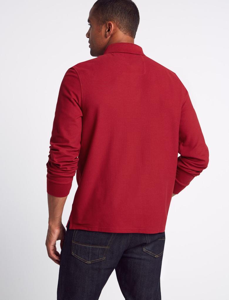 Erkek Saf Pamuklu Polo Yaka T-Shirt