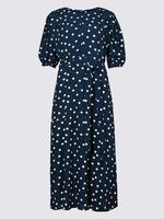 Yarım Kollu Midi Elbise