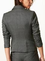 Tek Düğmeli Ekose Blazer Ceket