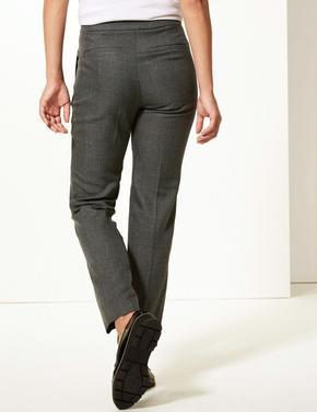 Straight Leg Ekose Pantolon