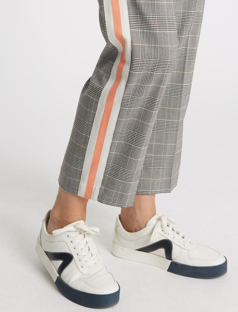 Tapered Leg Ekose Pantolon