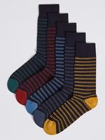 5'li Cool & Freshfeet™ Çizgili Çorap