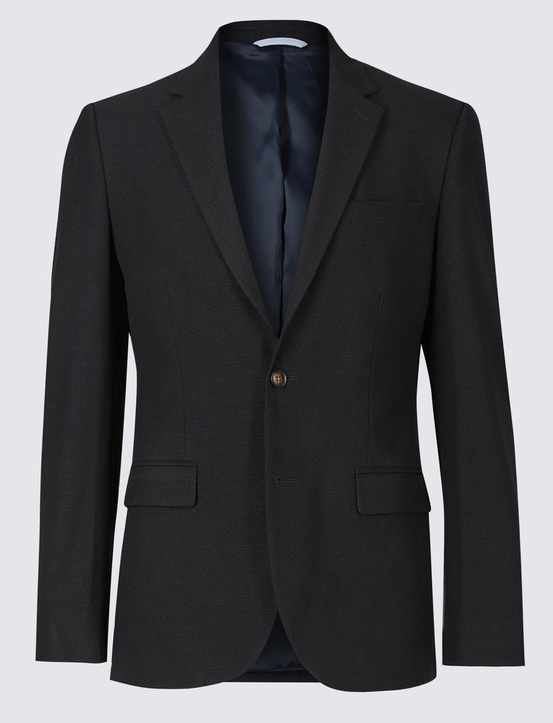 Erkek Lacivert Tailored Fit Ceket