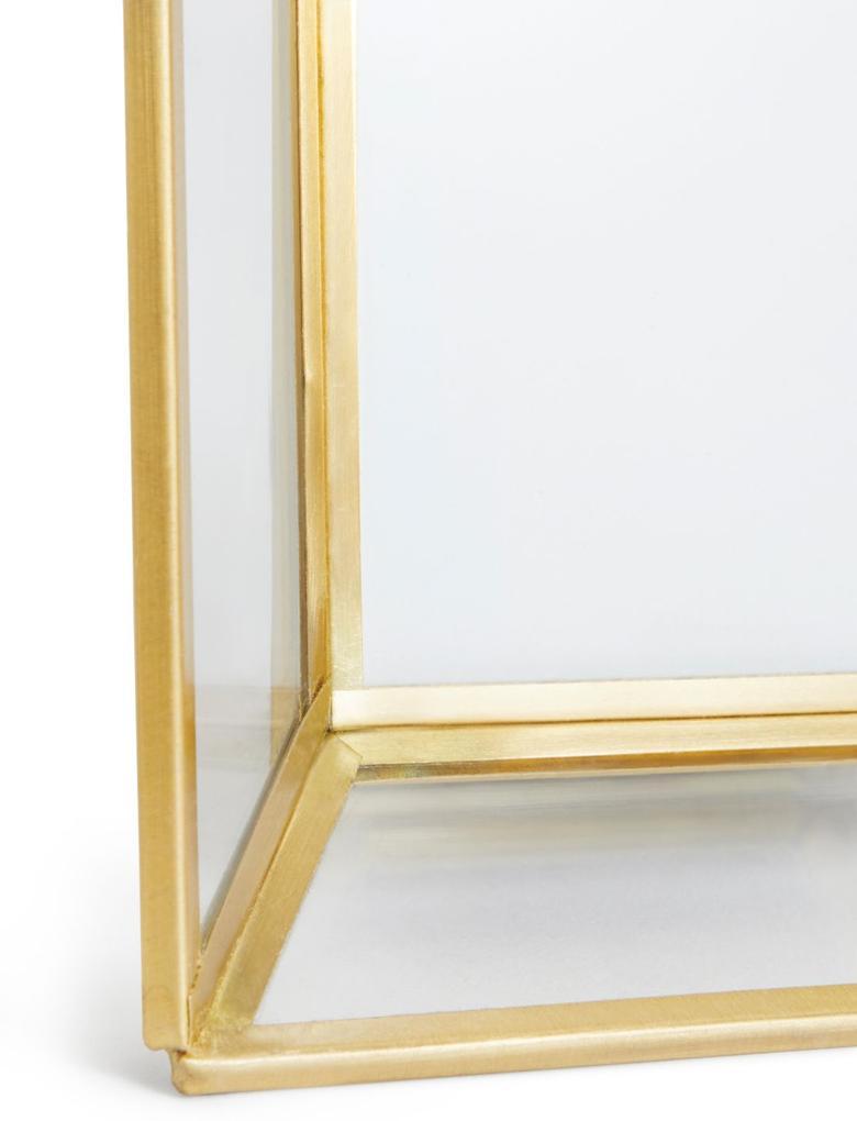 Sarı Cam ve Pirinç Fotoğraf Çerçevesi 12 x 17cm