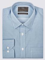 Saf Pamuklu Regular Fit Ütü Gerektirmeyen Gömlek