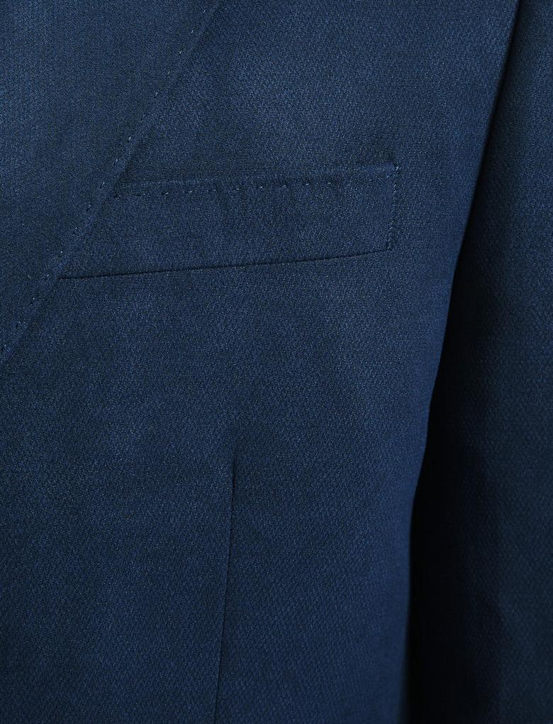 Erkek Lacivert Regular Fit Ceket