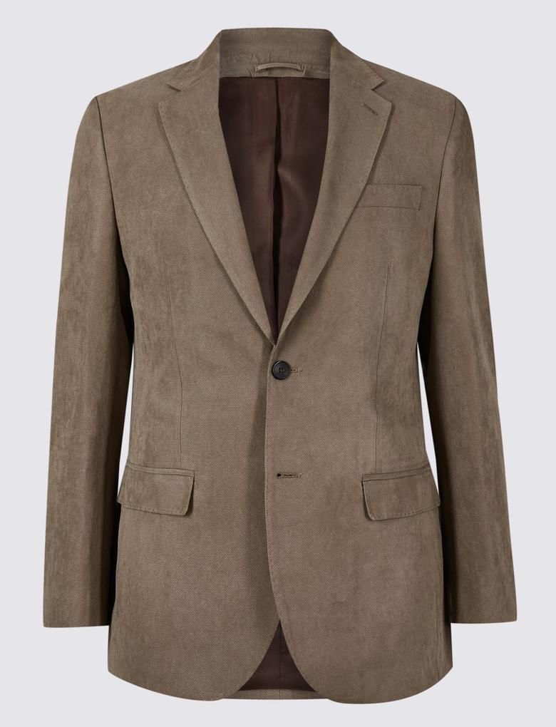 Erkek Kahverengi Regular Fit Ceket