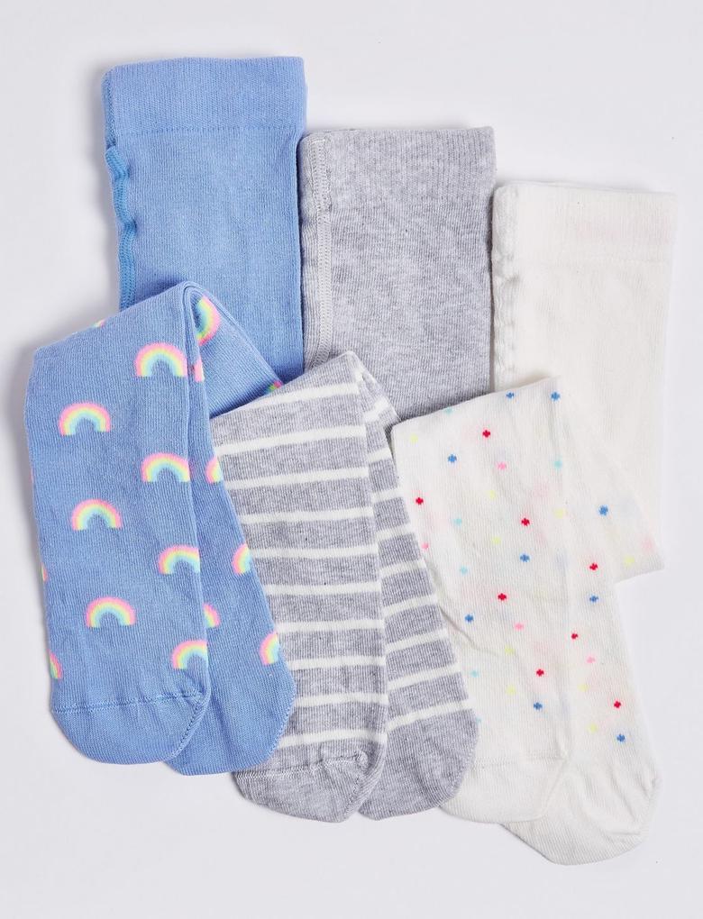 Multi Renk 3'lü Külotlu Çorap (StaySoft™ Teknolojisi ile)