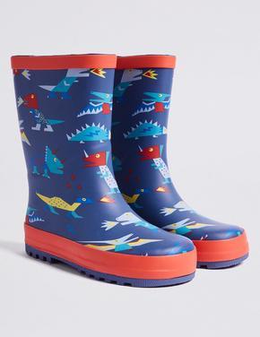 Dinozor Desenli Yağmur Botu