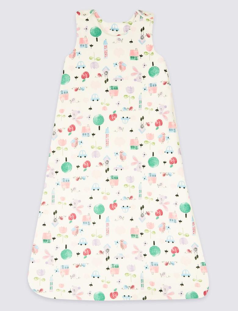 Multi Renk Saf Pamuklu Desenli 2.1 Tog Pijama Tulumu