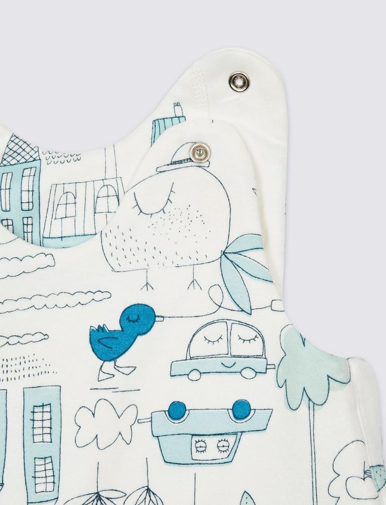 Multi Renk Saf Pamuklu 2.4 Tog Pijama Tulumu