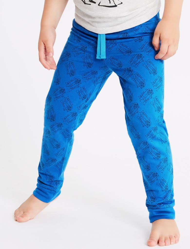 Mavi Star Wars™ Saf Pamuklu Pijama Takımı