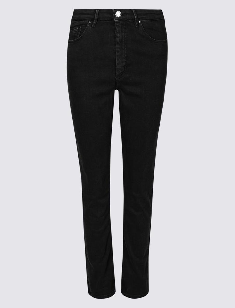 Siyah Sculpt & Lift Roma Rise Slim Leg Jean Pantolon