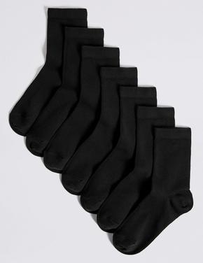 Erkek Çocuk Siyah 7 Çift Okul Çorabı