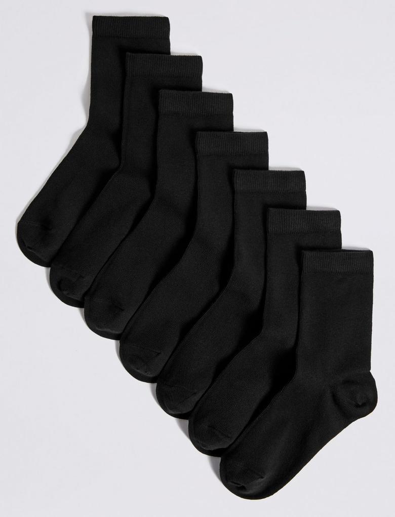 Siyah 7 Çift Okul Çorabı