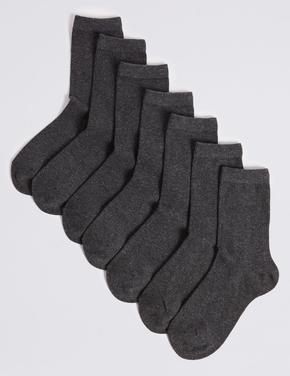 Erkek Çocuk Gri 7 Çift Okul Çorabı