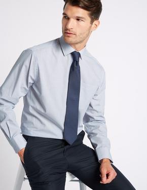 2'li Pamuklu Regular Fit Gömlek (Kravat ile)
