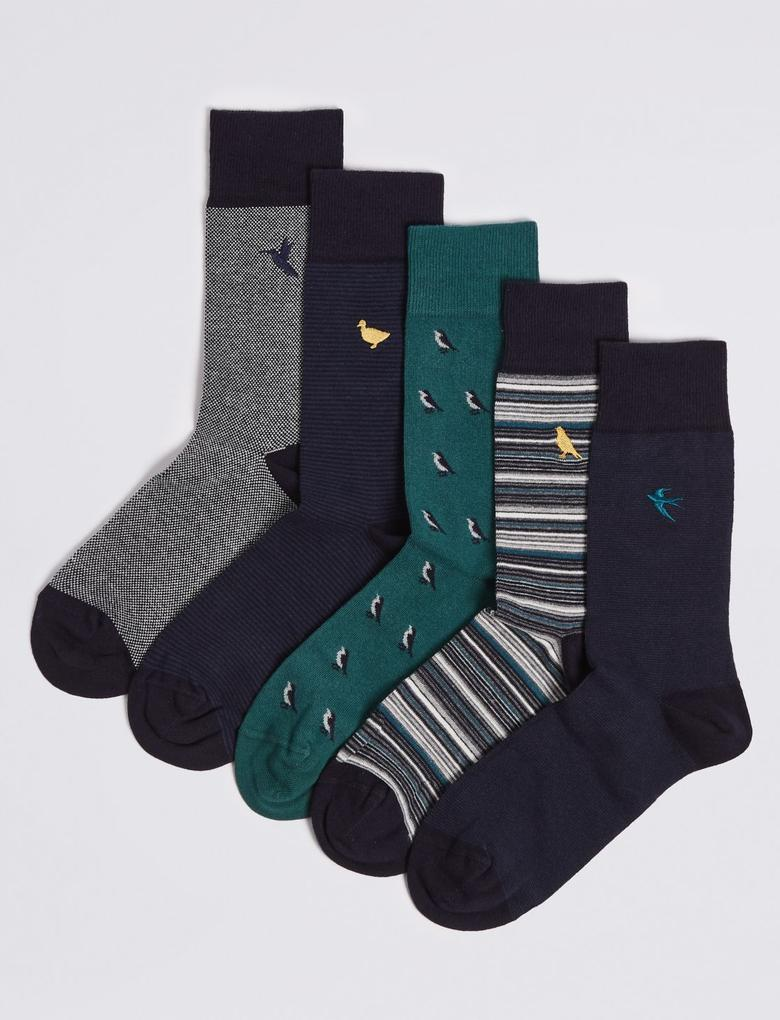 5'li Pamuklu Cool & Freshfeet™ Çorap