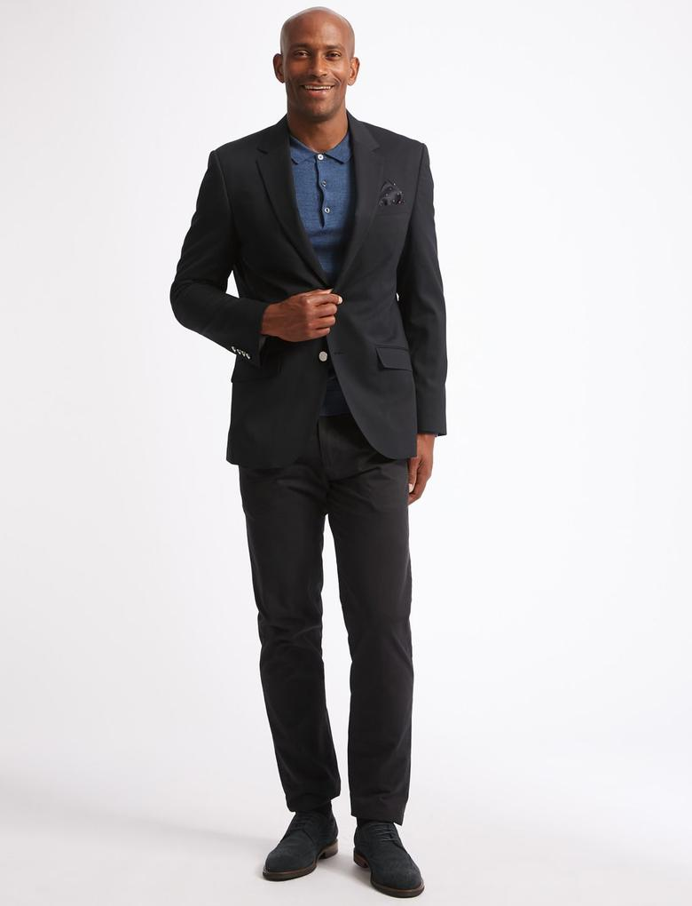 Lacivert Tailored Fit Ceket