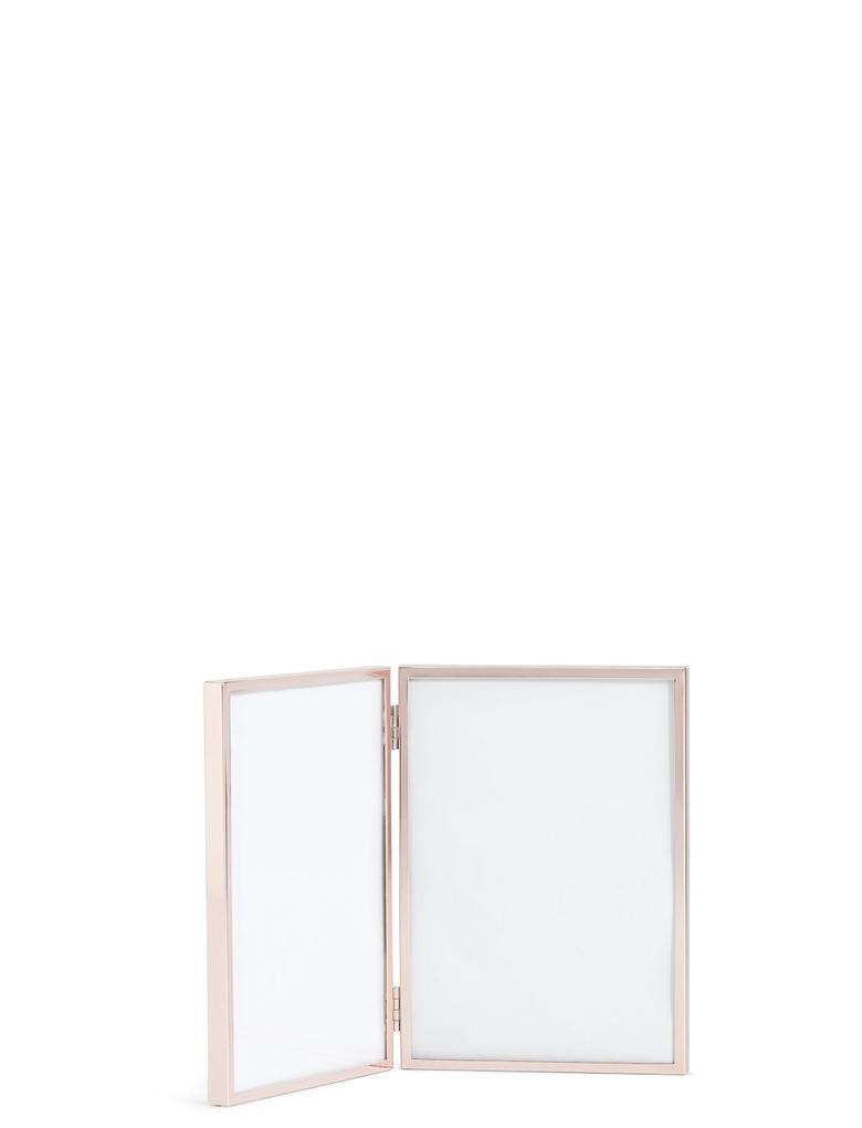 Kahverengi Çift Çerçeveli Metal Fotoğraf Çerçevesi 13 x 18cm