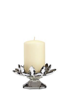 Cam Çiçek Şekilli Mumluk