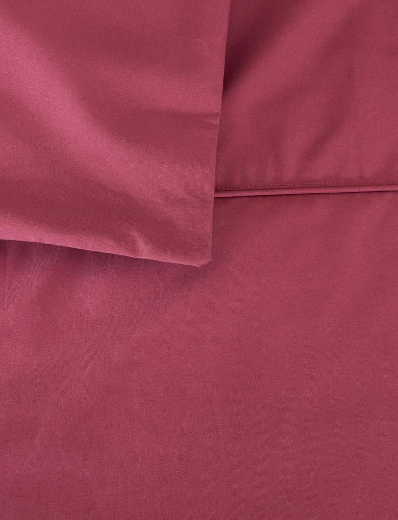 Kırmızı Ütü Gerektirmeyen Saf Egyptian Cotton Yorgan Kılıfı