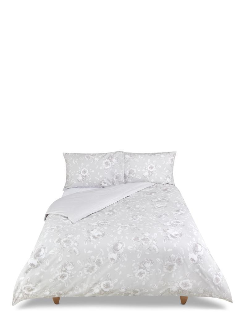 Gri Çiçekli Yatak Takımı
