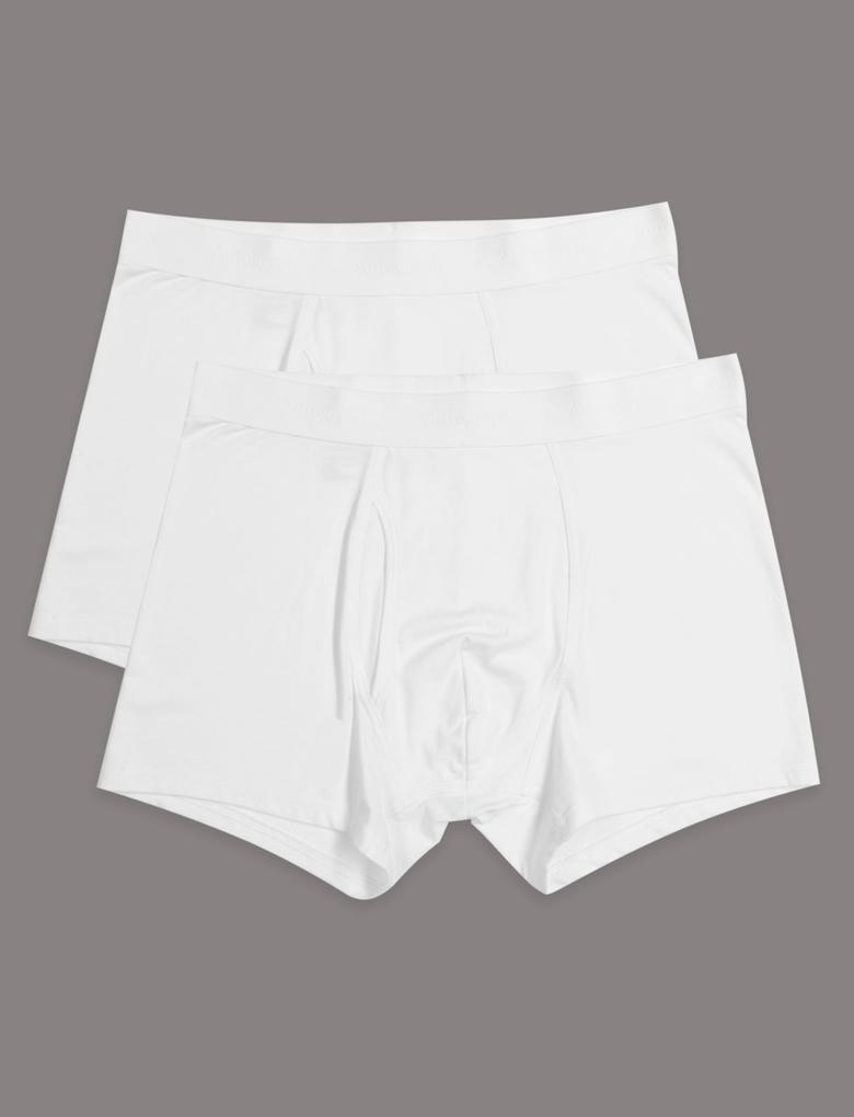 Beyaz 2'li Modal Karışımlı Trunk