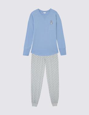 Tavşanlı Uzun Kollu Pijama Takımı