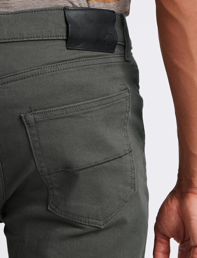 Gri Regular Fit Streç Jean Pantolon (StayNew™ Teknolojisi ile)