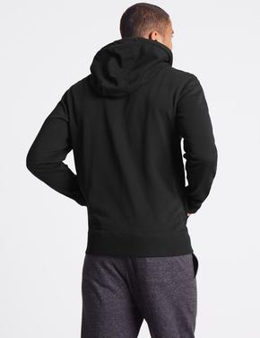 Pamuklu Regular Fit Kapüşonlu Sweatshirt