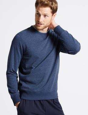 Pamuklu Sıfır Yaka Regular Fit Sweatshirt