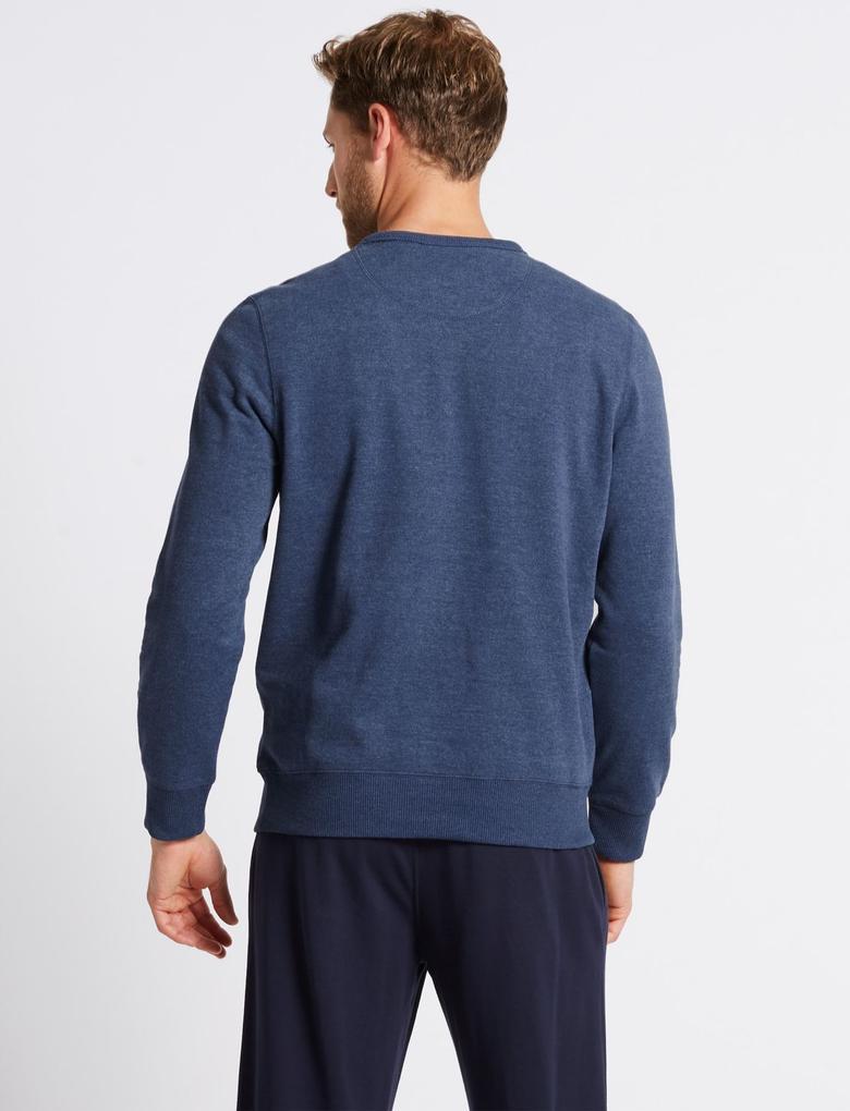Pamuklu Sıfır Yaka Regular Fit Sweatshirt