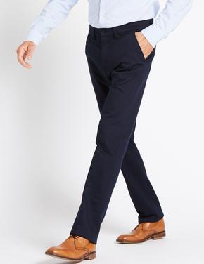 Straight Fit Pamuklu Streç Pantolon