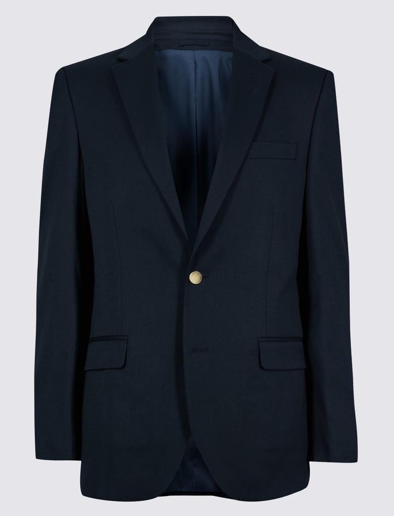 Regular Fit Lacivert Ceket