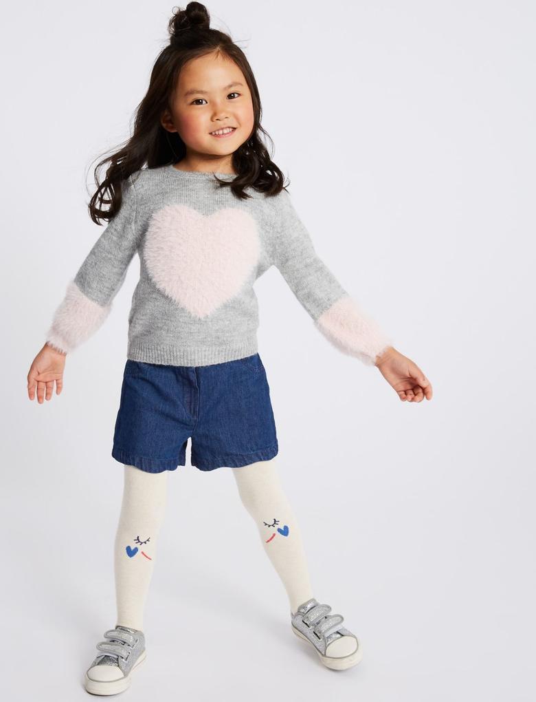 2 Parça Şort ve Külotlu Çorap Takımı