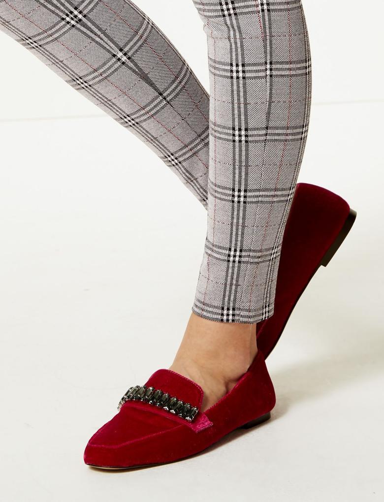 Skinny Leg Ekose Pantolon