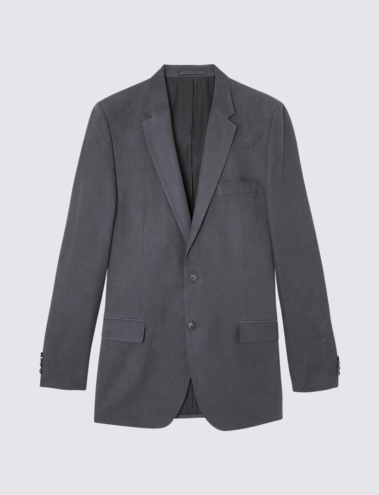 Erkek Gri Regular Fit Ceket