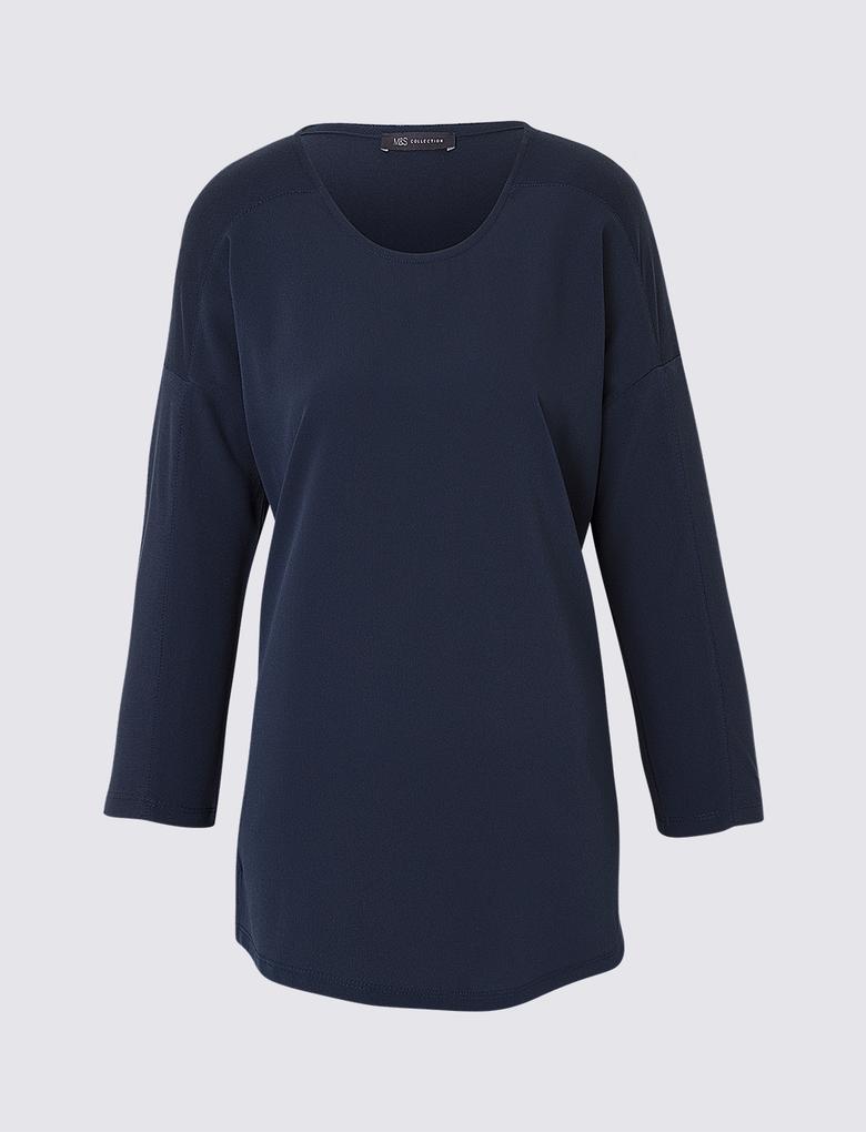 Düz Renk Jarse T-Shirt