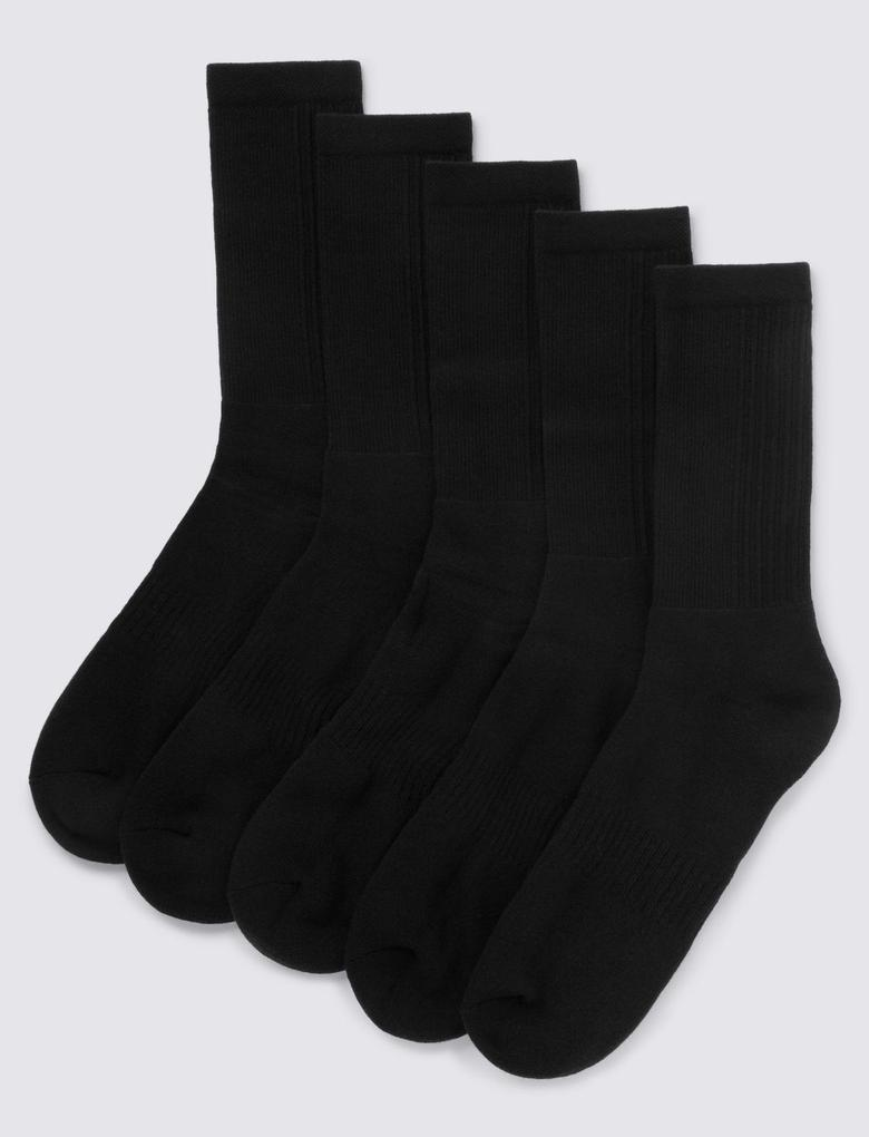 5'li Cool & Fresh™ Pamuklu Spor Çorabı