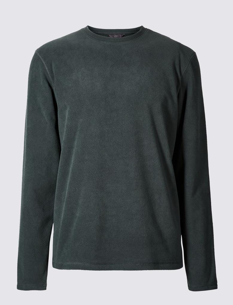 Sıfır Yaka Polar Sweatshirt