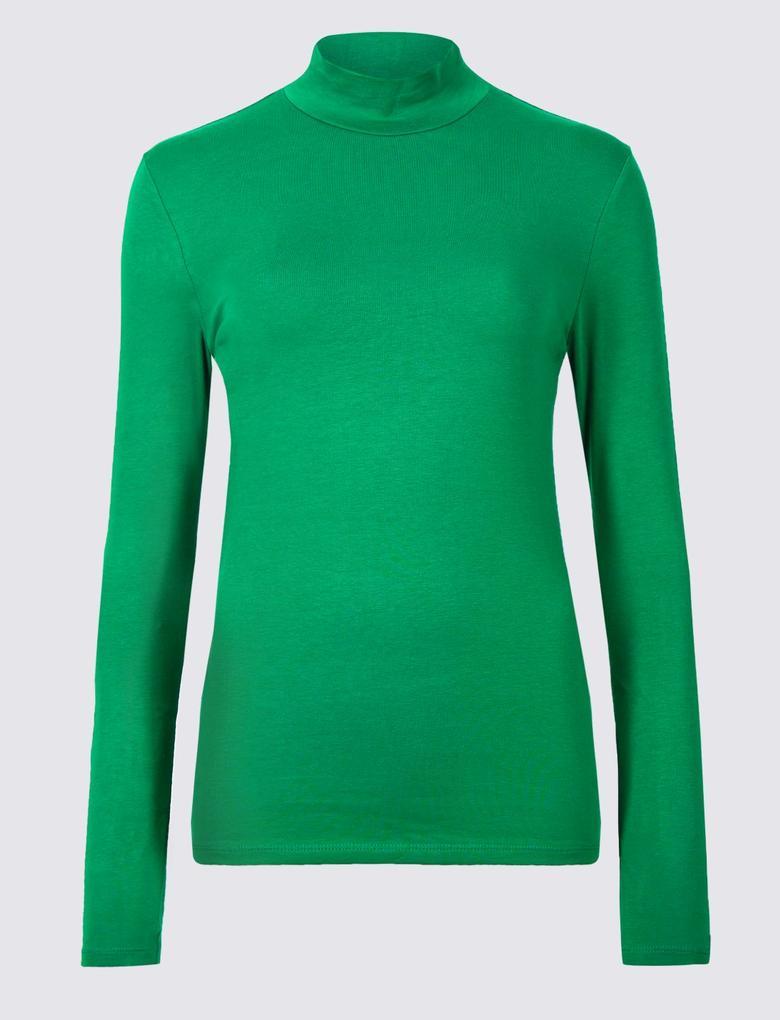 Pamuklu Uzun Kollu T-Shirt