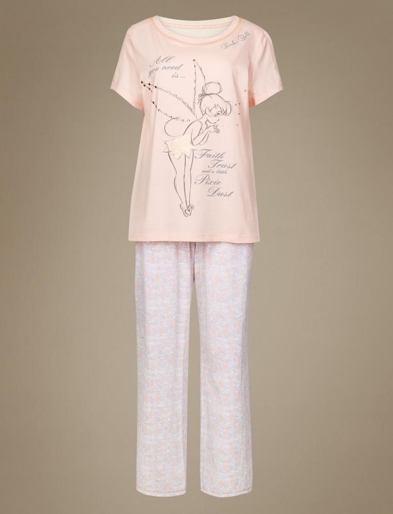 Saf Pamuklu Tinkerbell Pyjama Set