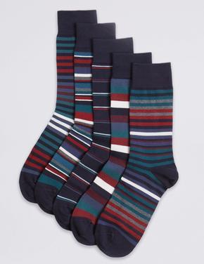 5'li Cool & Freshfeet™ Pamuklu Çorap