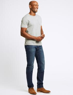 Tapered Fit Streç Jean Pantolon