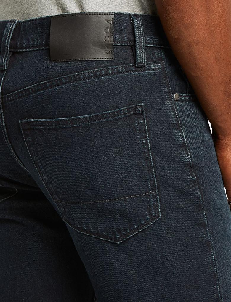 Erkek Mavi Tapered Fit Streç Jean Pantolon