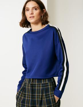 Yuvarlak Yaka Uzun Kollu Sweatshirt