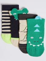 4'lü Timsah Desenli Çorap